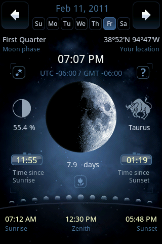 Moon Phase Main With Sun Parameters